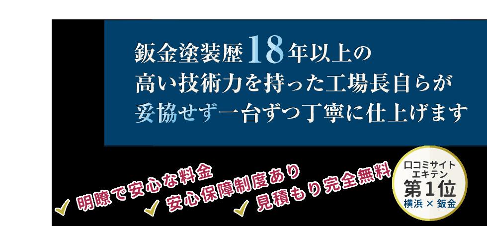横浜市港北区の鈑金塗装は【口コミNo1】のTOPFIX メインイメージ
